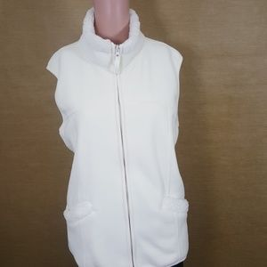 Coldwater Creek 1X Winter White Vest